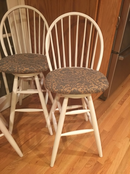 Reupholstered and Refinished chairs